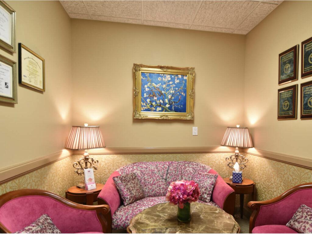 Fertility clinic pink room